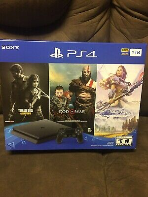 PlayStation 4 (Ps4) 1 TB Console Bundle (3 games) - Jet Black **Brand New**
