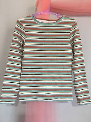 Lovely Girls Next Ribbed Fabric Striped Long Sleeve Top 6yrs🎀
