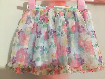 Cute Baby Girls Floral Tutu Style Skirt 18-24m🌸🌼