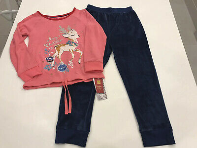 Marks & Spencer Girls Christmas Pyjamas 7-8  Years, BNWT, Velour Bottoms
