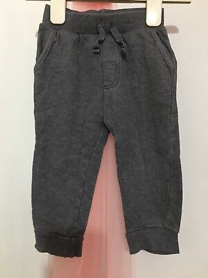 Baby Boys Blue Zoo Dark Grey Tracksuit Joggers Trousers 9-12m🐳