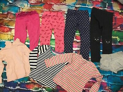 Girls Clothes Bundle 3-4yrs thermal leggings pyjama long sleeve tops pink blue