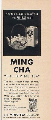"1957 Advertisement - MING CHA ""THE DIVINE TEA"" - HARTFORD, CT"