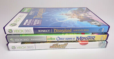 Lot 3 Xbox 360 Kid Games Disneyland Adventure Sesame Street Once Upon A Monster