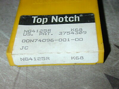 NG3072RK KU10T TOP NOTCH KENNAMETAL LOT OF 5 INSERTS *** FACTORY PACK ***