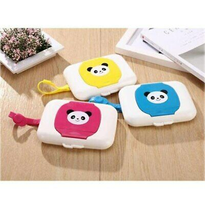 Tissue Boxes Baby Wipes Case Dispenser For Stroller Portable Rope Lid Covered