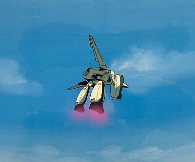 Macross Robotech Anime Original Production Used Animation Cel Opening Sequence