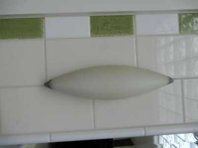 Wall Sconces x 2 - Art Deco Style Wall Mounted Lights removed, 6l
