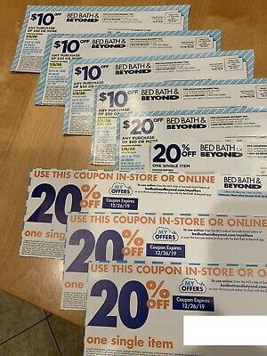 $100 off Bed Bath Beyond Coupons PLUS four 20% off - NOT EXPIRED!!