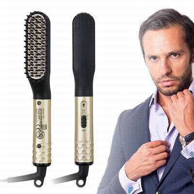Men's Hair Straightening Shaping Comb Electric Beard Straightening Comb New AU