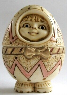 Excellent condition! Harmony Kingdom Pot Bellys Little Dipper Easter Egg Child Figurine with original box and COA