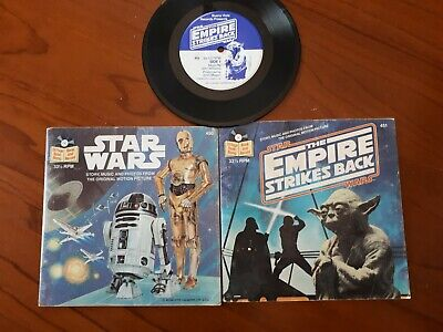 Star Wars 45rpm record and picture books