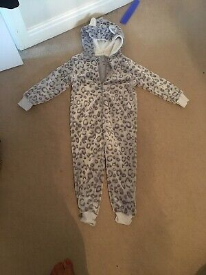 Girls All In One Leopard Print Age 5-6