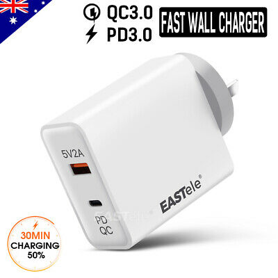 FAST CHARGING USB Type-C Wall Charger AC Power Adapter PD 3.0 For Apple Samsung
