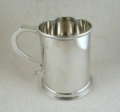 Solid Silver  LARGE STRAIGHT SIDED TANKARD  Hallmarked:-SHEFFIELD 1959
