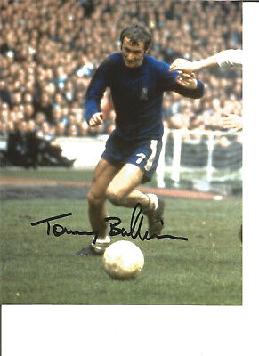 Football Autograph Tommy Baldwin Chelsea FC Signed 10x8 inch Photograph JM33