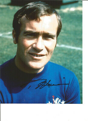 Football Autograph Ron Chopper Harris Chelsea FC Signed 10x8 in Photograph JM37