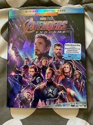 Authentic Marvel Avengers Endgame End Game Blu-ray+Digital Code! With SLIPCOVER!