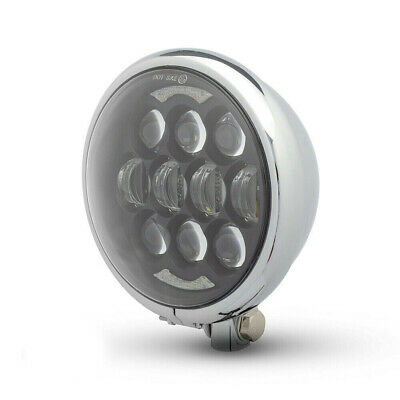Headlight for Harley Davidson Sportster Dyna Project Bike Projecto LED CHROME