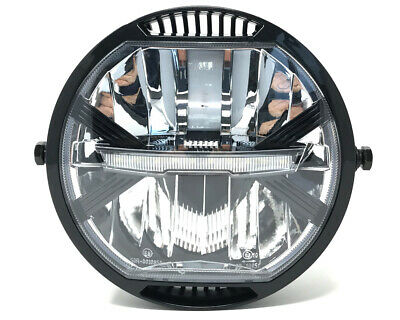 """HOMOLOGATED LED Motorbike Headlight 7"""" for Project Cafe Racer or Streetfighter"""