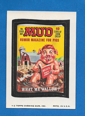 1974 Topps Original Wacky Packages 11th Series Mud Magazine tan back