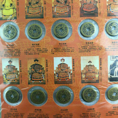 10Pcs / Set Dynasty Antique Currency Ten Emperors Coins Chinese Copper Coin Old