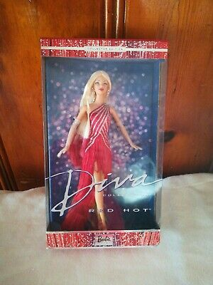 New 2003 Mattel Collector Edition Diva Collection Red Hot Barbie 56707 NRFB