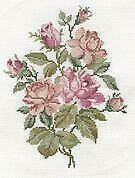 DMC Counted Cross Stitch Kit - Garden Discoveries - Roses - Pink Roses Bouquet