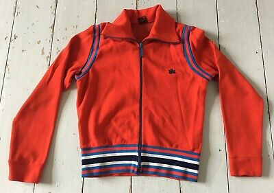 Unisex Vintage Red & Blue Tracksuit Top Size Small