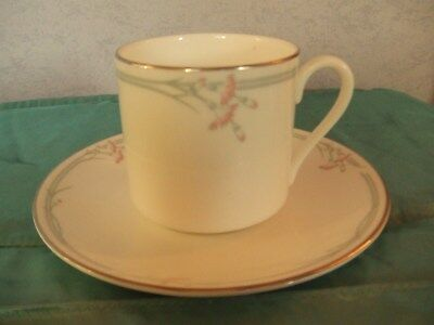 ROYAL DOULTON Carnation Coffee Cup and Saucer in Excellent Condition