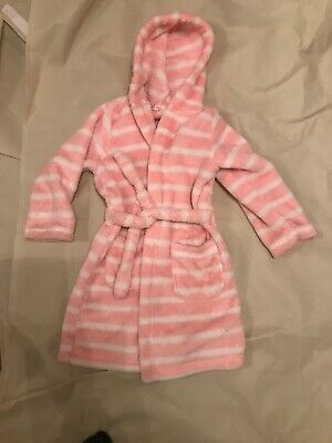 5 To 6 Supersoft Pink And White Dressing Gown Marks & Spencer