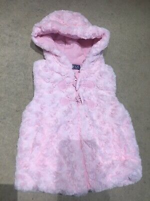 Minoti Girls Gilet Fur BodyWarmer / Gilet Size 3-4 Years Baby Pink Jacket