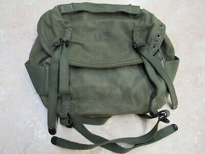 US Early Vietnam Era M1956 Butt Pack Field Canvas OD Green W/ Alice Clips 1962