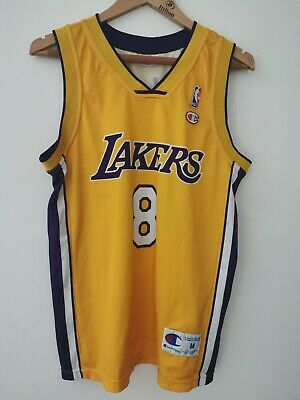 Vintage Champion Kobe Bryant' No.8 LA Lakers Yellow Jersey Size Medium