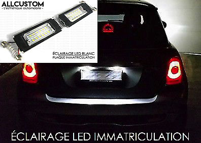 LED ECLAIRAGE BLANC PLAQUE IMMATRICULATION pour BMW MINI R56 ONE COOPER S 05-13