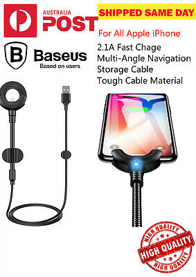 Baseus Car Mount Lightning Charger Data Cable O-type for Apple iPhone5 6 s 7 8 X