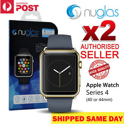 2 X Genuine Nuglas Tempered Glass Screen Protector For Apple iWatch 1 2 3