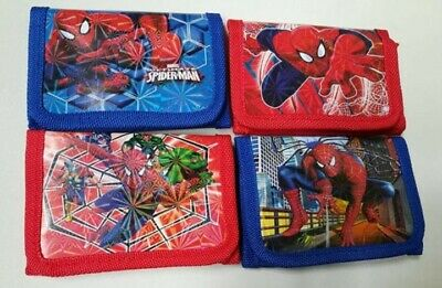 Kids/Boys Spiderman Wallet/Purse/Coin Ideal For School Trifold Zip Party Gift