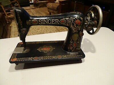 "Antique 1921 Singer Treadle Sewing Machine Head, Model 66 ""Red Eye"