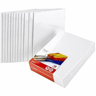 Artlicious Canvas Panels 12 Pack - 8 Inch X 10 Super Value Artist Boards For