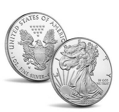 Roll of 20 - 2019 1 oz Silver American Eagle $1 Coin BU - 20 coins