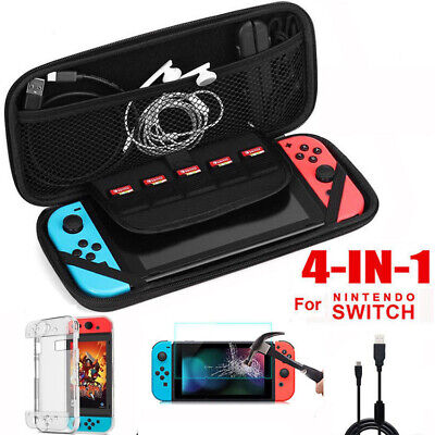 Accessories Kit for Nintendo Switch Carry Case+Charger+Cover+Screen Protector
