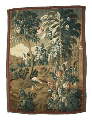 """18th Cen Antique Large Tapestry 85""""x 68"""""""
