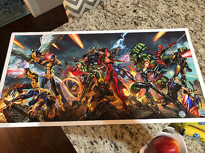 J Scott Campbell 14X27 Lithograph Signed By Campbell & Stan Lee W/ Coa X-Men