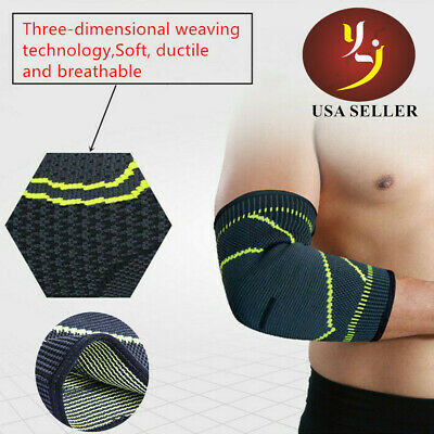 YLY Compression Elbow Sleeve Support Arthritis Pain Relief  Fitness Brace