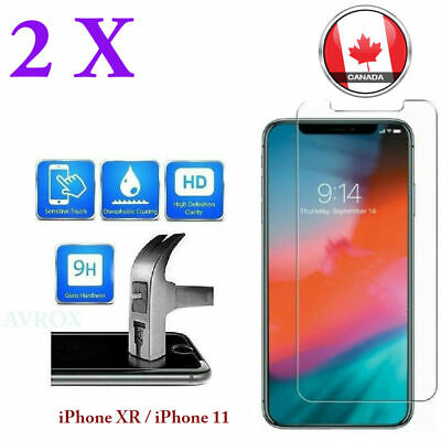 Premium Tempered Glass Screen Protector for iPhone XR 11 Pro Max 6 7 8+ (2 Pack)