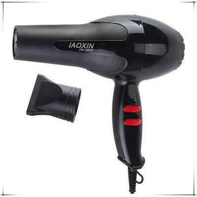 Professional Style Hair Dryer 1600W Hair Blow Dryer Blower Black Hot Cold Wind