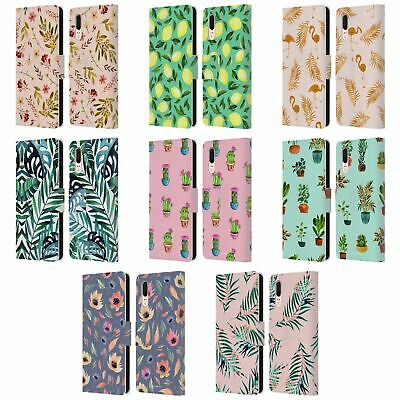 Official Julia Badeeva Botanicals Leather Book Wallet Case For Huawei Phones