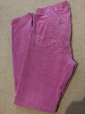 UNIQLO Kids Girls Age 10,11,12 Pink Cordrouy Leggings Trousers, Warm for Winter