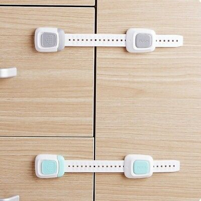 Baby Adhesive Safety Latches Door Cupboard Cabinet Fridge Drawer Locks Home